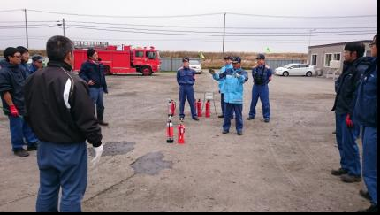 消火器取扱訓練