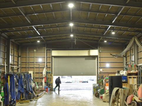 車庫LED化工事1